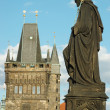 Sculpture of Charles bridge,unesco heritage,Prague ,Czech Republ — Stock Photo