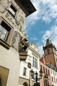 Old gothic Prague city with fanciful architectural details - chi — Stock Photo