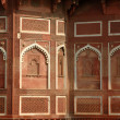 Beautiful ornate wall inside Agra fort,famous landmark,India — Stock Photo