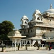 Beautiful palace at Jag Mandir island on Pichola lake in Udaipur city,India — Stock Photo