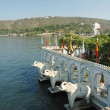 Summer palace at Jag Mandir island on Pichola lake,Udaipur,India — Stock Photo