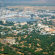 Pushkar view, famous Hindu pilgrimage town, Rajasthan,India — Stock Photo