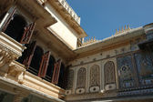 Closeup of Mor Chok ( Peacock square) in Udaipur city palace, India — Stock Photo