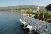 Summer palace at Jag Mandir island on Pichola lake,Udaipur,India — Stock Photo
