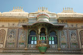 Closeup of Peacock square (Mor Chok) in Udaipur city palace,India — Stock Photo