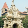 Famous landmark of Mumbai (Bombay) - Flora fountain,India — Stock Photo