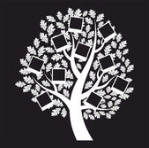 Family genealogical tree on black background, vector — Stock Vector