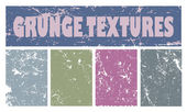 Four grunge vector textures for your design — Stock Photo