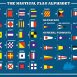 International maritime signal flags - sea alphabet , vector illu - Stock Vector
