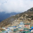 Namche Bazaar village view - capital of sherpa ,Everest region,Nepal — Stock Photo #26355109