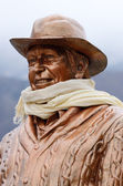 Sir Edmund Hillary - first man who climbed summit of Mount Everest,Nepal,Khumjung — Stock Photo