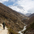 Way to South Everest Base Camp in Himalayas,Nepal,Asia - Stock Photo