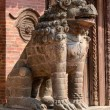 Lion Statue at Pattan Durbar Square in Kathmandu, Nepal ,unesco — Stock Photo