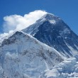 Summit of Everest or Sagarmatha - highest mountain in the world — Stock Photo