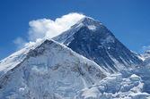Summit of Everest or Sagarmatha - highest mountain in the world — Stock Photo