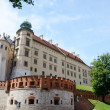 Sigismund III Vasa Tower and walls in Wawel Royal castle,Krakow — Stock Photo