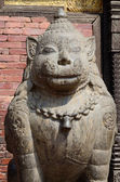 Lion Statue at Pattan Durbar Square,Kathmandu valley, Nepal — Stockfoto