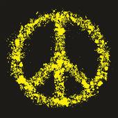 Grunge peace symbol - pacific, vector illustration — Stock Vector