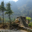 Stone steps to place for ritual burning dead people,Nepal — Stock Photo