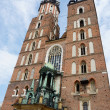 Mariacki Church - famous gothic church in Krakow,Poland — Stock Photo