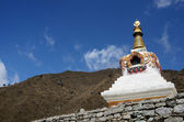 Traditionelle tibetische stupa in nepal, asien — Stockfoto