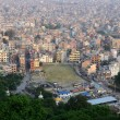 View of nepalese capital Kathmandu from Monkey temple,Nepal — Stock Photo