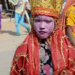 Stock Photo: Boy dressed as Lord Krishna,Pushkar,Rajasthan,India
