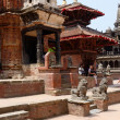 Local people resting at Durbar Square in Patan ,Nepal — Stock Photo