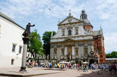 Tourists visiting Church of St. Peter and Paul,Krakow,Poland — Stock Photo