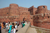 Famous Agra Fort - old Mughal Empire capital,UNESCO World Heritage Site,India — Stock Photo