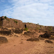 Ruins of Chapora fort,located in Bardez, Goa,India — Stock Photo