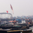 Early morning at Tulsi Ghat in holy Ganges River,Varanasi,India — Stock Photo