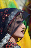 Hijra dressed as woman at Pushkar camel fair,India — Stock Photo