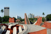 Jantar Mantar panorama - medieval observatory,Delhi,India — Stock Photo