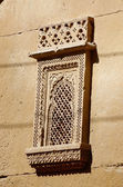 Traditional ornate window of old haveli (palace) in Jaisalmer, India — Stock Photo
