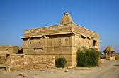 Hindu temple in abandoned village of Kuldhara in Rajasthan,Thar desert,India — Stock Photo