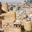 View of golden Jaisalmer from city fort in Rajasthan,India,Asia — Stock Photo