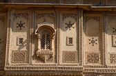 Traditional hindu architecture of old haveli in Jaisalmer, India,Asia — Stock Photo