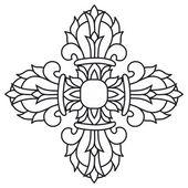 Sacred buddhist religious symbol  - vajra or dorje,vector — Stock Vector
