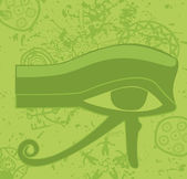 Grunge egyptian Eye of Horus , ancient deity, religious symbol, vector — Stock Vector