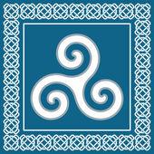 Old triskelion symbol, element typical for celtic ethnic design -  vector illustration — Stock Vector