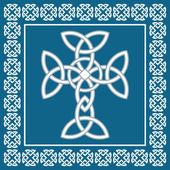 Celtic cross,symbolizes eternity,vector illustration — Vecteur