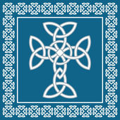Celtic cross,symbolizes eternity,vector illustration — Cтоковый вектор