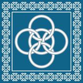 Celtic Five Fold knot ,symbolizes integration of four elements,vector — Stock Vector