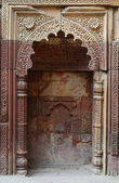 Mihrab in Qutub Minar complex in Delhi,India,ancient Islamic monument,UNESCO Heritage — Stock Photo