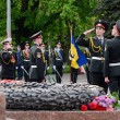 ������, ������: Guard of honour standing near Eternal Flame during ceremonial parade at Alley of Glory dedicated to the 69th Anniversary of victory in Second World War 1941 1945 Odessa Ukraine
