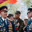 Old veterans come to celebrate Victory Day in commemoration of Soviet soldiers who died during Great Patriotic War,Odessa,Ukraine — Stock Photo #46152733