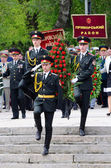 Ceremonial parade at Alley of Glory dedicated to the 69th Anniversary of victory in Great Patriotic War 1941-1945,Odessa,Ukraine — Stock Photo