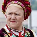 Senior women singing traditional ukrainian song at Day of Kiev holiday — Stock Photo #47614221