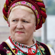 Senior women singing traditional ukrainian song at Day of Kiev holiday — Stock Photo #47614221